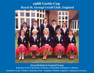 Claire Dowling Curtis Cup 1988 Team