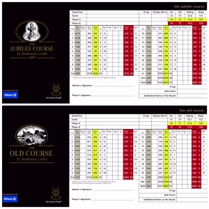 St Andrews Scorecards