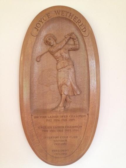 JW Tiverton Wood Plaque