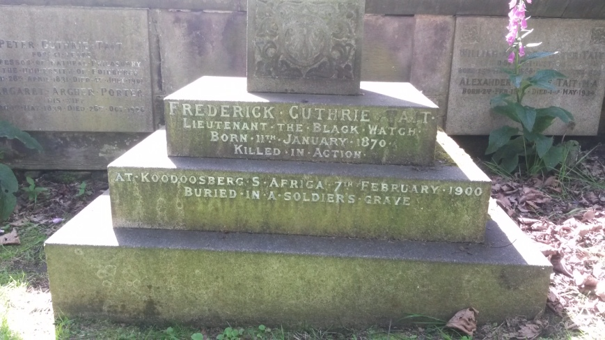 Freddie Tait Edinburgh Headstone