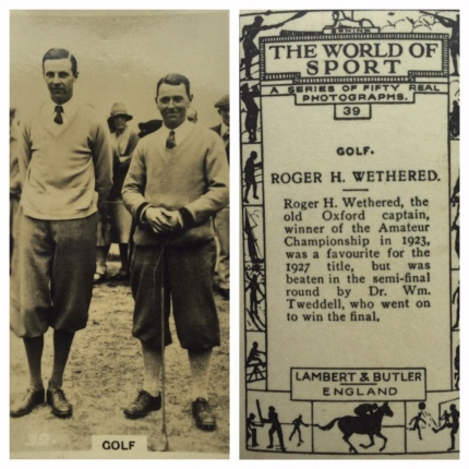 Roger Wethered with WT Amateur 1927