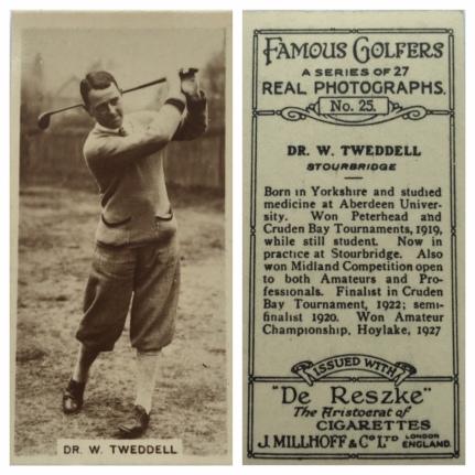 WT Millhoff Cigarette Card 1928